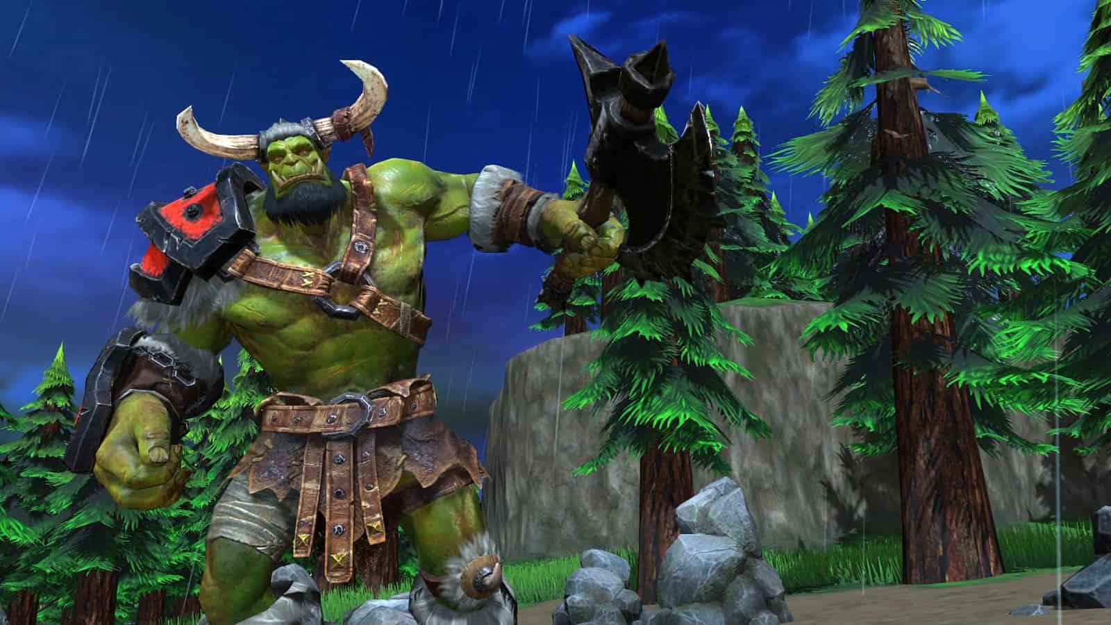 La nouvelle modélisation 3D des orcs de Warcraft 3 Reforged